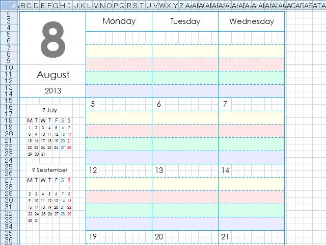 9月からエクセル版のマンスリーリフィルを使います 手帳