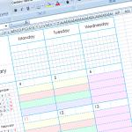 誰でも簡単に手帳リフィルが作れるようにエクセルで制作する方法を考えた