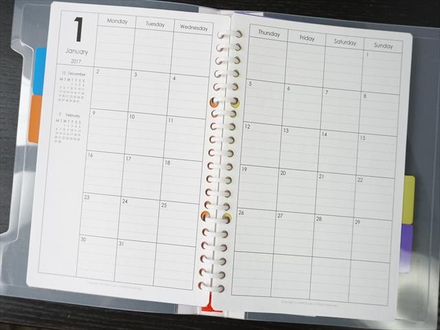 a5 ルーズリーフ カレンダー 印刷